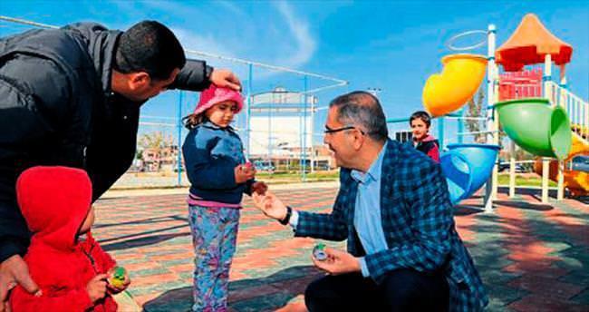 Yüreğir'de 'Çocuk Dostu' parkın inşaatı tamamlandı