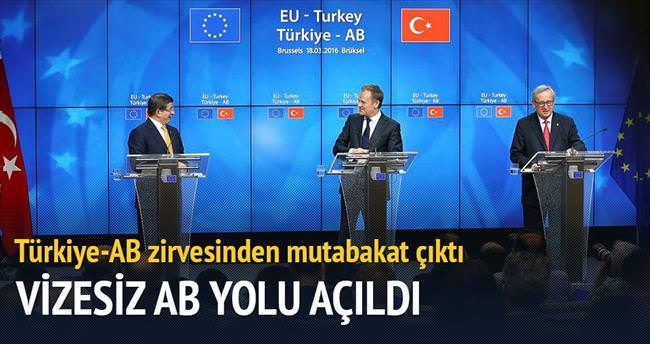 Brüksel'de vizesiz Avrupa'nın yolu açıldı
