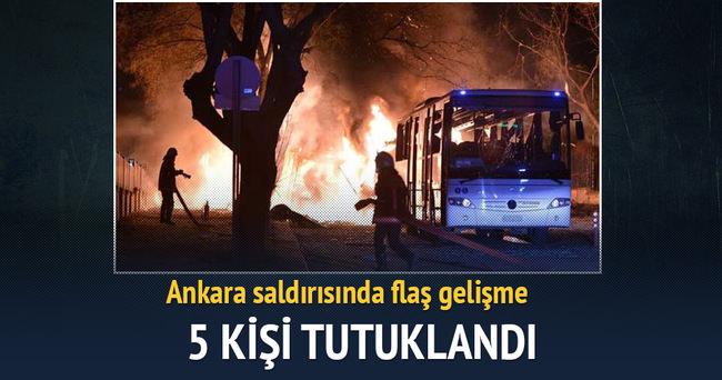 Ankara'daki saldırıda 5 tutuklama