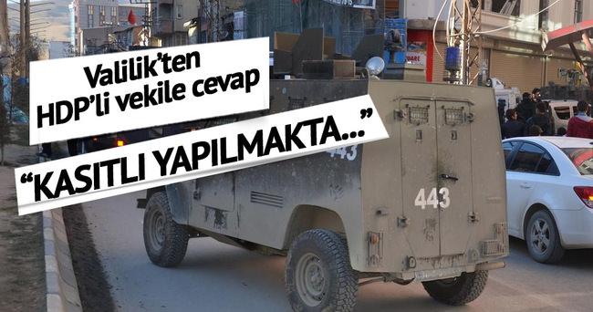 HDP'lilerin o iddiasına Valilik'ten yalanlama