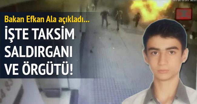 İçişleri Bakanı Taksim saldırganının kimliğini açıkladı!