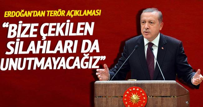 Cumhurbaşkanı Erdoğan Haliç'te konuştu