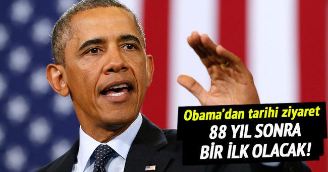Obama'dan tarihi ziyaret!