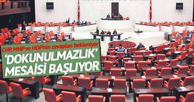 Meclis'te 'dokunulmazlık' mesaisi