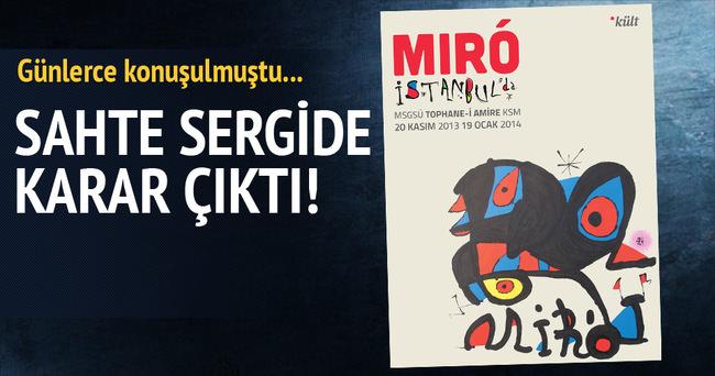 Sahte Miro sergisi davasında mahkumiyet çıktı
