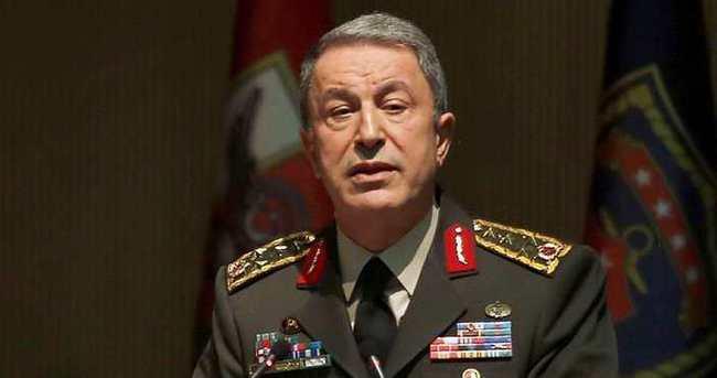Genelkurmay Başkanı Akar'dan başsağlığı mesajı