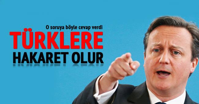 Cameron: Türklere hakaret olur