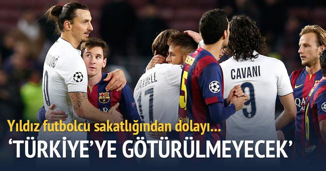 Ibrahimovic Türkiye'ye götürülmeyecek