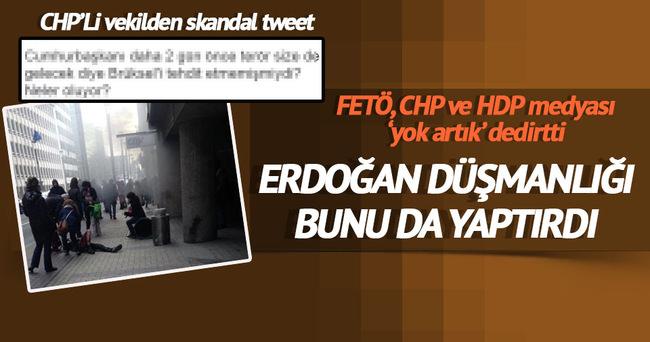 CHP'li vekil Belçika'daki patlama için Erdoğan'ı suçladı
