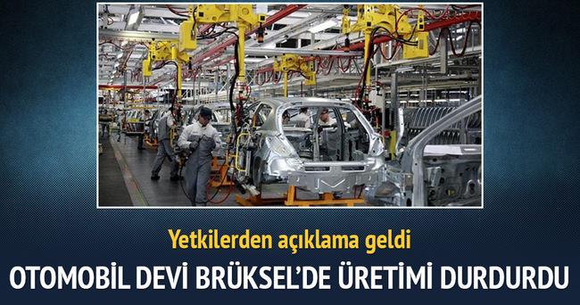 Audi Brüksel'deki fabrikada üretimi durdurdu