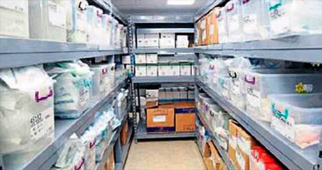 Tepecik hastanesine tıbbi sarf deposu