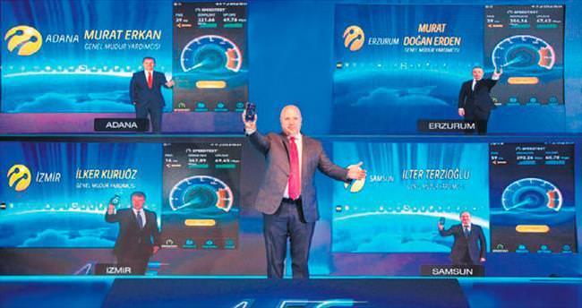 Turkcell 4.5G hızını 5 ilde canlı test etti