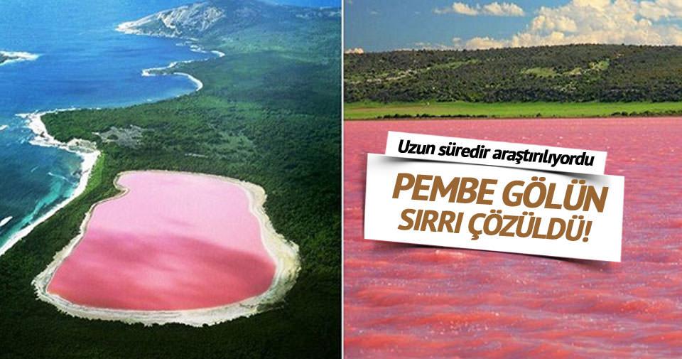 Pembe gölün sırrı çözüldü