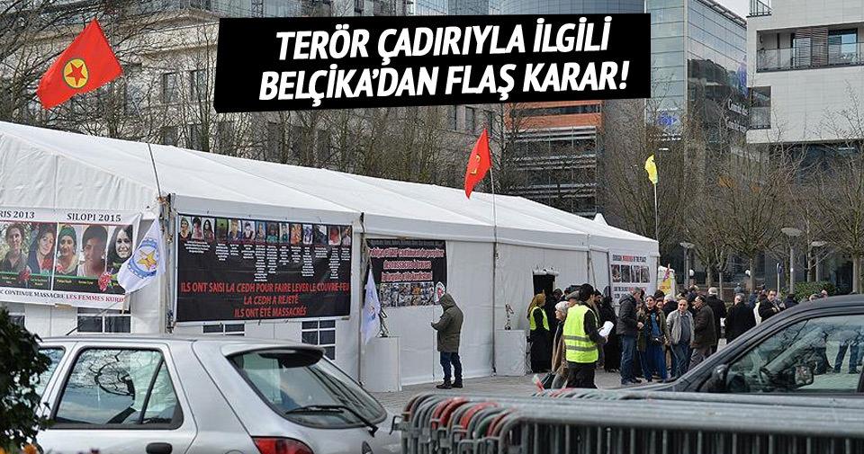 Belçika'daki PKK çadırı kaldırıldı