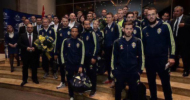 İsveç Milli Takımı Türkiye'ye geldi