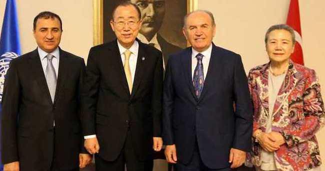 Ban-Ki Moon İstanbul'da Kadir Topbaş ile görüştü