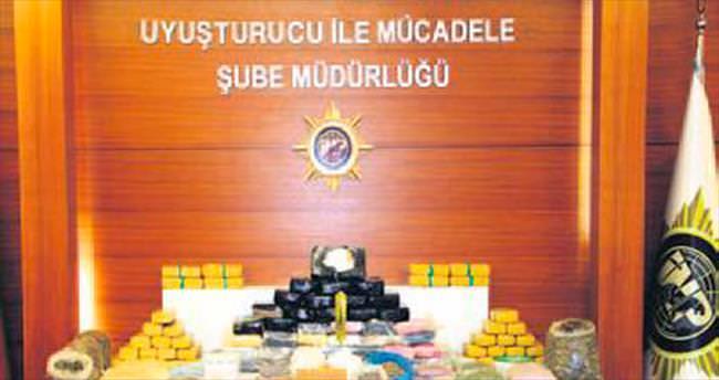 Rezidansta 12 milyon liralık uyuşturucu