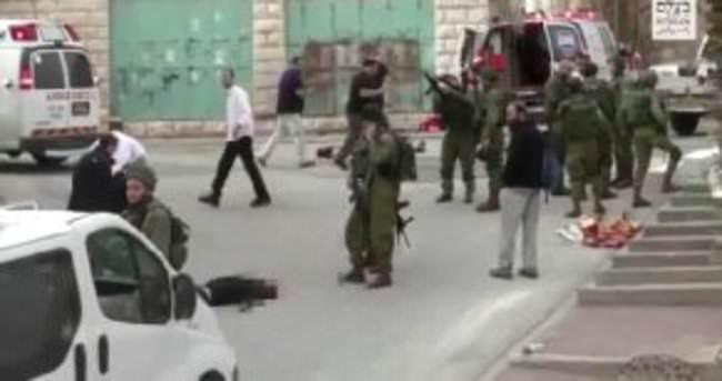 İsrail askeri yaralı halde yerde yatan Filistinliyi infaz etti