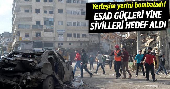Esad güçleri yine sivilleri hedef aldı!