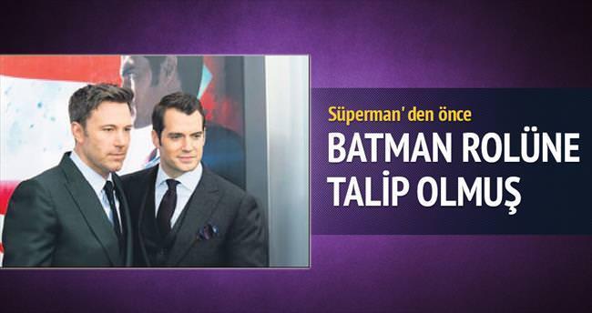'Süperman' den önce 'Batman' rolüne talip olmuş