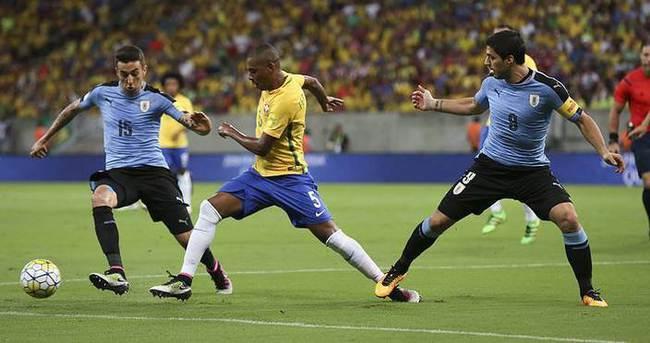 Suarezli Uruguay Brezilya ile yenişemedi