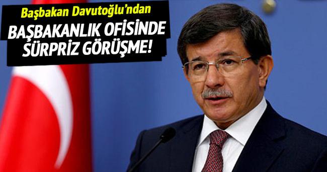 Başbakan Davutoğlu'ndan sürpriz görüşme!