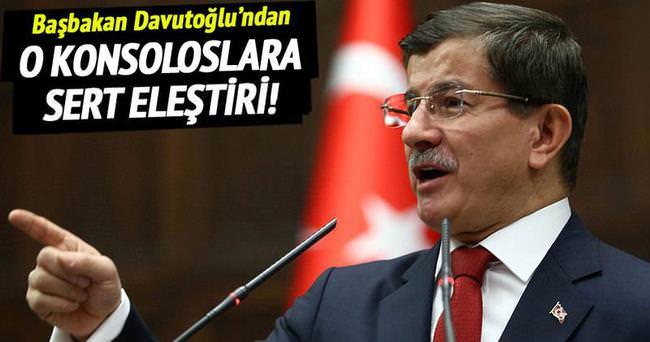 Davutoğlu'ndan konsoloslara duruşma eleştirisi!