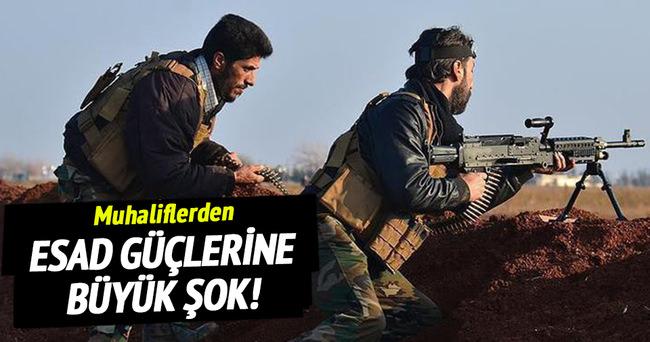 Muhaliflerden Esad güçlerine büyük şok!