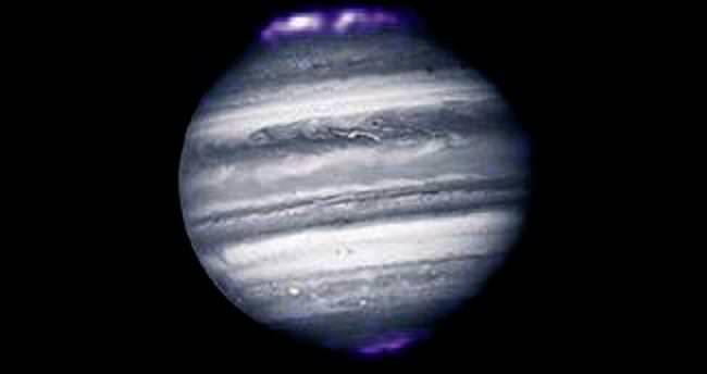 Bu da Jüpiter gezegeninin kuzey ışıkları