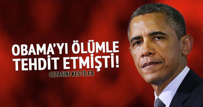 Obama'yı ölümle tehdit etmişti! Cezasını kestiler