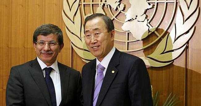 Davutoğlu, Ürdün'de BM Genel Sekreteri ile görüştü