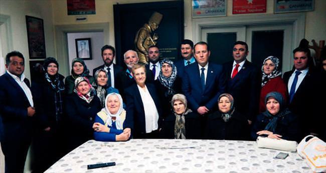 AK Partili vekilden gazilere moral ziyareti