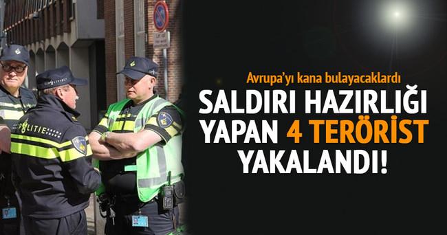 Saldırı hazırlığındaki 4 terörist gözaltına alındı!