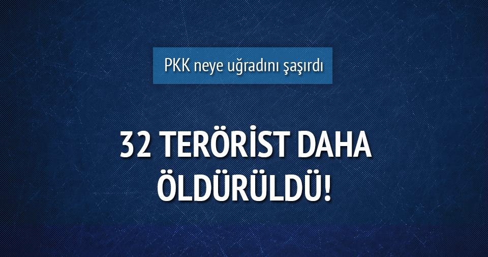 TSK: 3 ilde 32 terörist öldürüldü