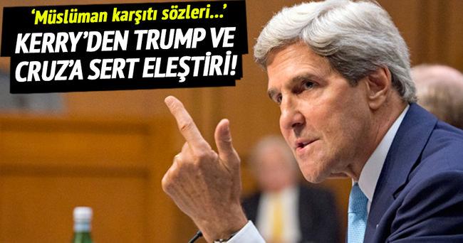 Kerry'den Trump ve Cruz'a sert eleştiri!