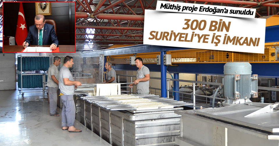 Mültecilere fabrika kurulacak