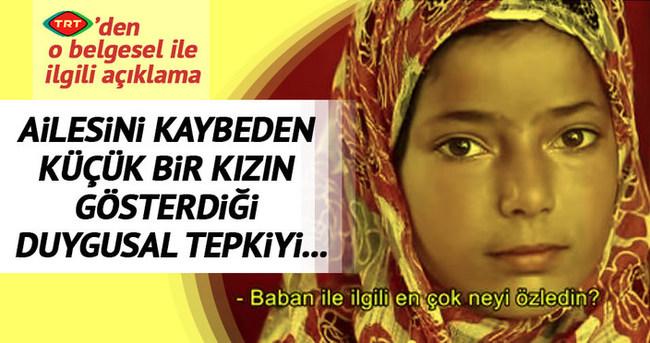 TRT'den o belgeselle ilgili açıklama