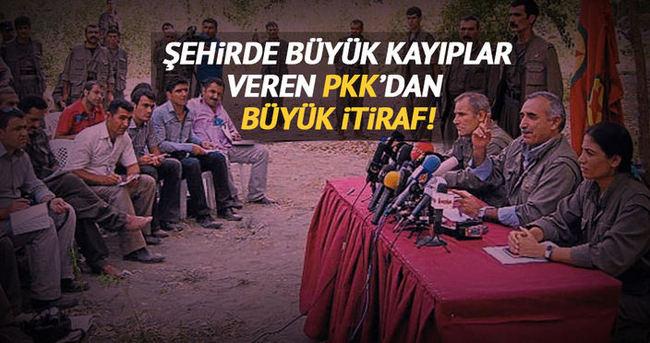 PKK'dan 'hendek' itirafı!