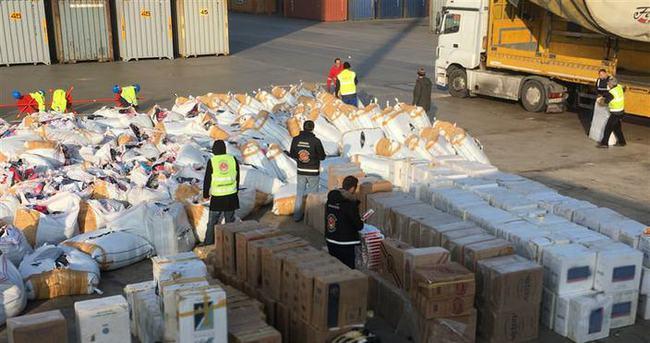 700 bin paket kaçak sigaraya el konuldu