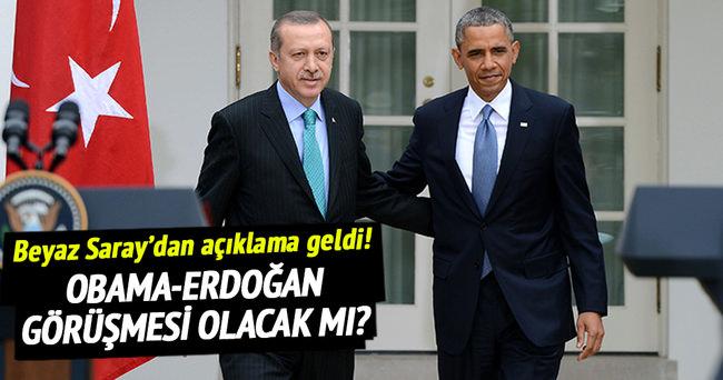 Obama-Erdoğan görüşmesi olacak mı? Beyaz Saray'dan açıklama geldi!