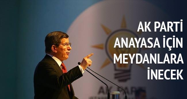 AK Parti anayasa için meydanlara inecek