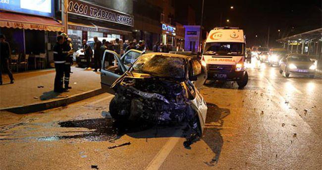 Bursa'da trafik kazası: 1 ölü, 3 yaralı
