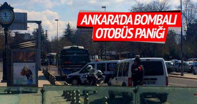 Ankara'da bombalı otobüs paniği