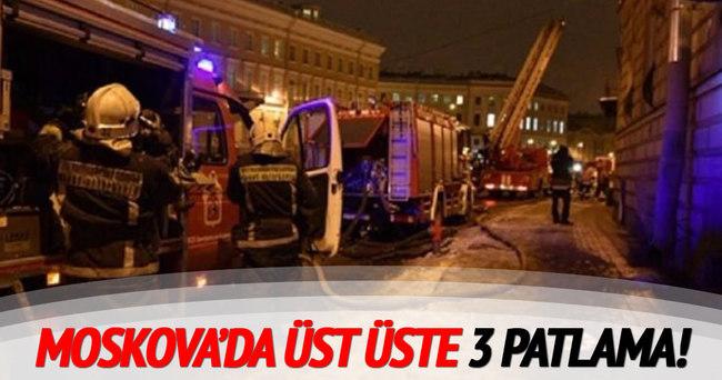 Moskova'da üst üste 3 patlama!