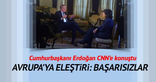 Cumhurbaşkanı Erdoğan'dan Avrupa'ya tepki
