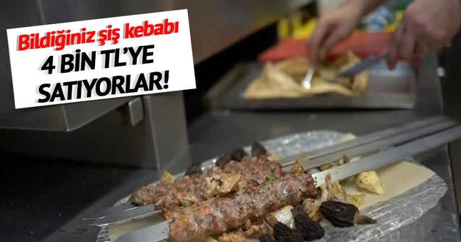 Dünyanın en pahalı şiş kebabı