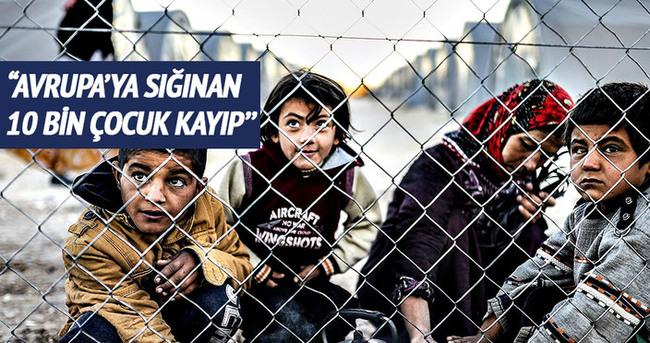''Avrupa'da 10 bin mülteci çocuk kayıp''