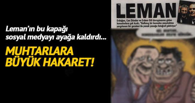 Leman'ın muhtar karikatürü büyük tepki topladı!