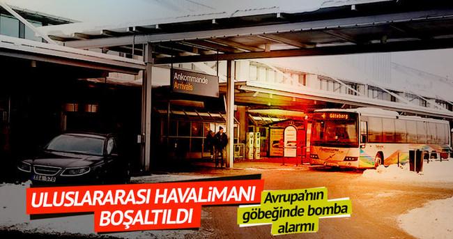 Göteborg havalimanına bomba ihbarı