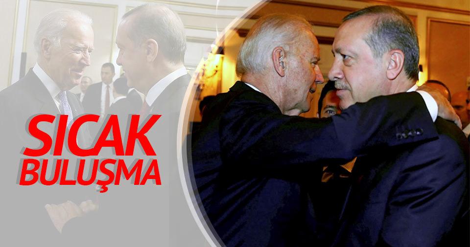 Erdoğan, ABD Başkan Yardımcısı Biden görüşmesi başladı